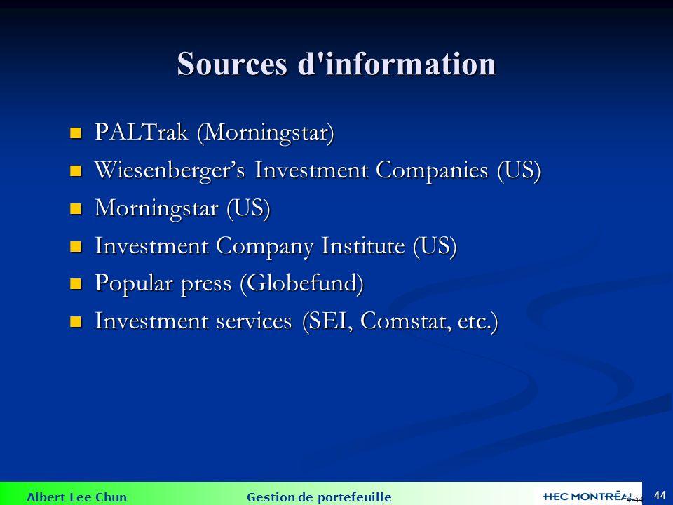 Les fonds indiciels 4-45