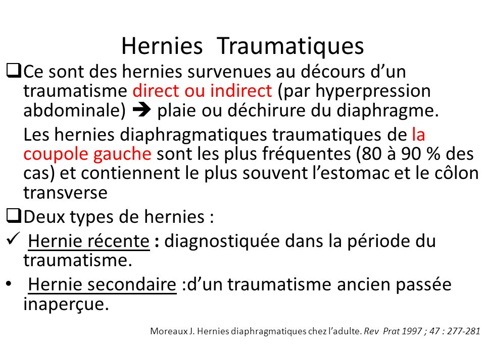 Hernies Traumatiques