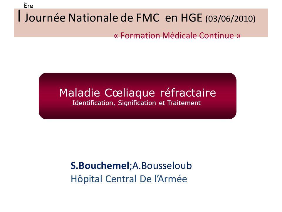 Ère I Journée Nationale de FMC en HGE (03/06/2010) « Formation Médicale Continue »