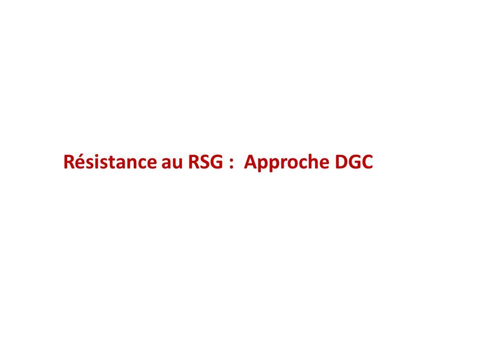 Résistance au RSG : Approche DGC