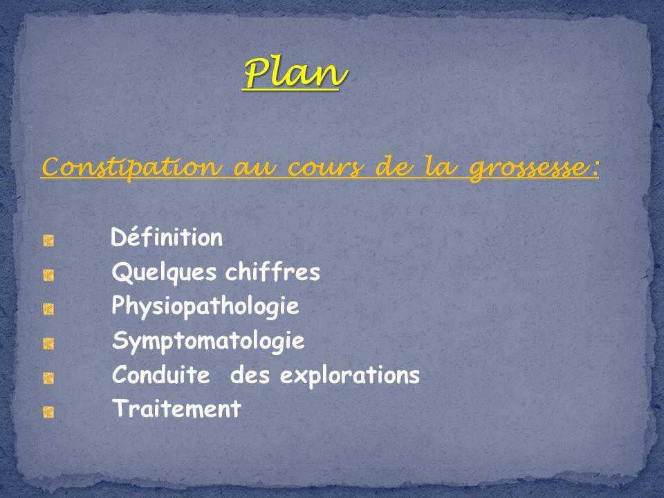 Plan Constipation au cours de la grossesse : Définition