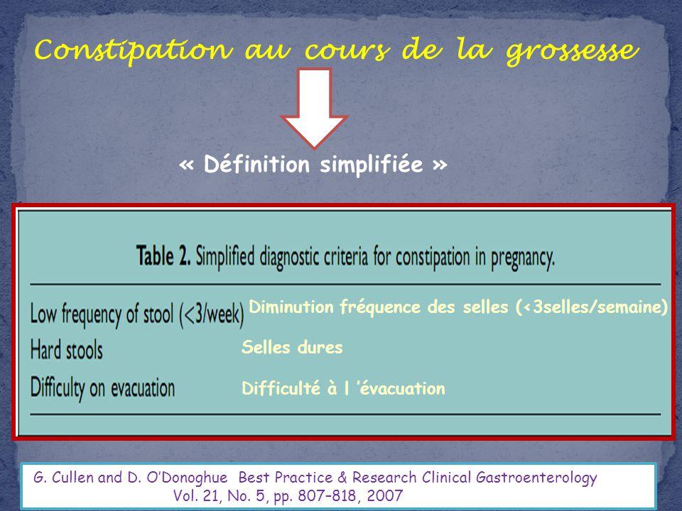 Constipation au cours de la grossesse « Définition simplifiée »