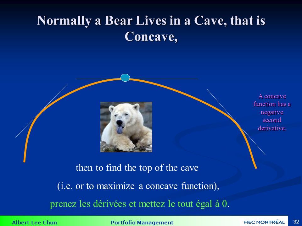 However, if the Bear is Swimming in a Bowl, that is Convex,