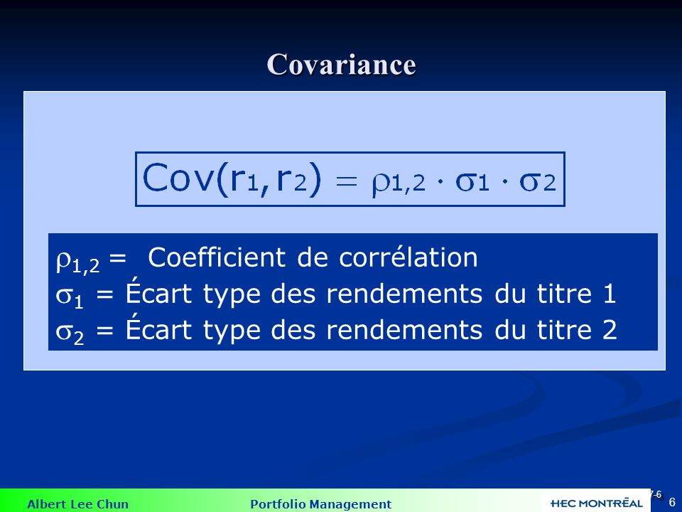Coefficients de corrélation