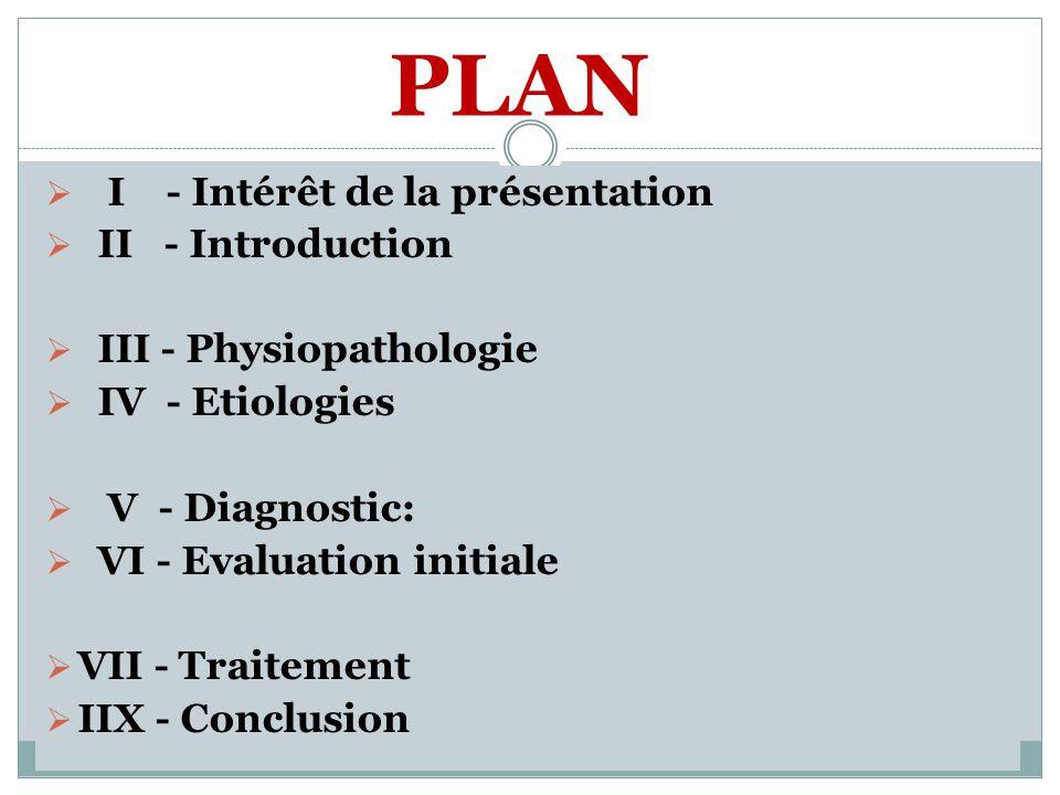 PLAN I - Intérêt de la présentation II - Introduction