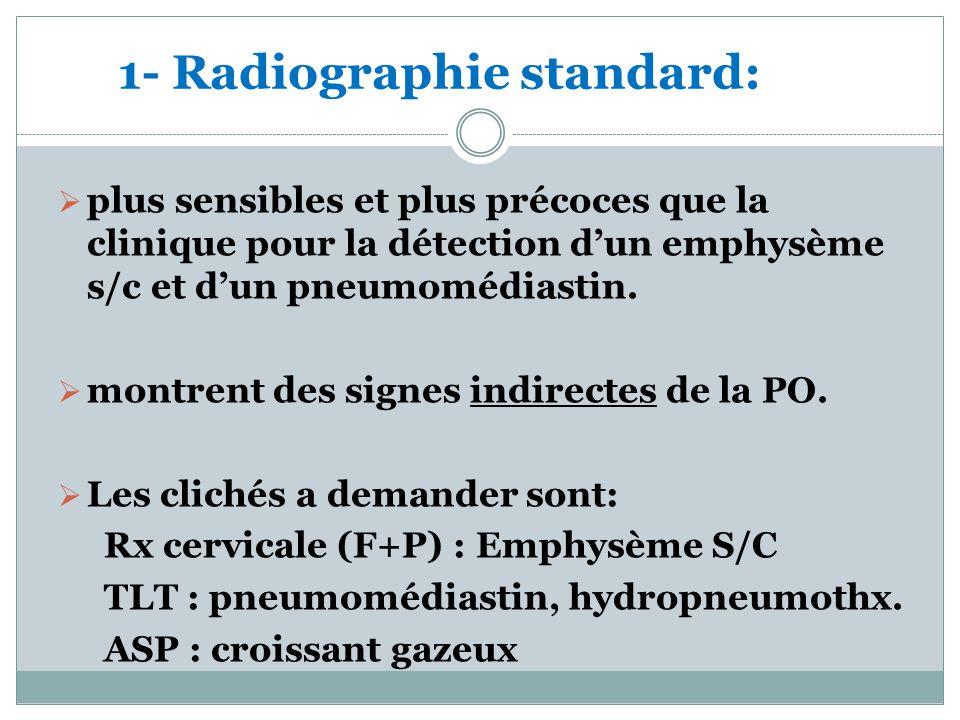1- Radiographie standard: