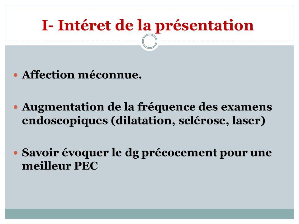 I- Intéret de la présentation