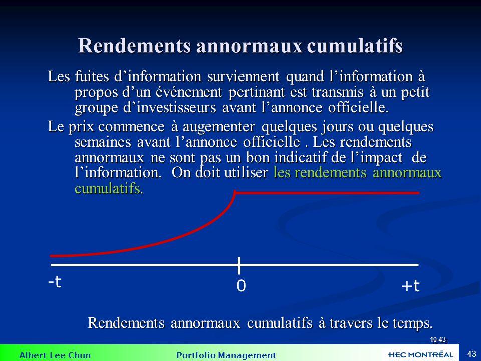 Rendements annormaux cumulatifs