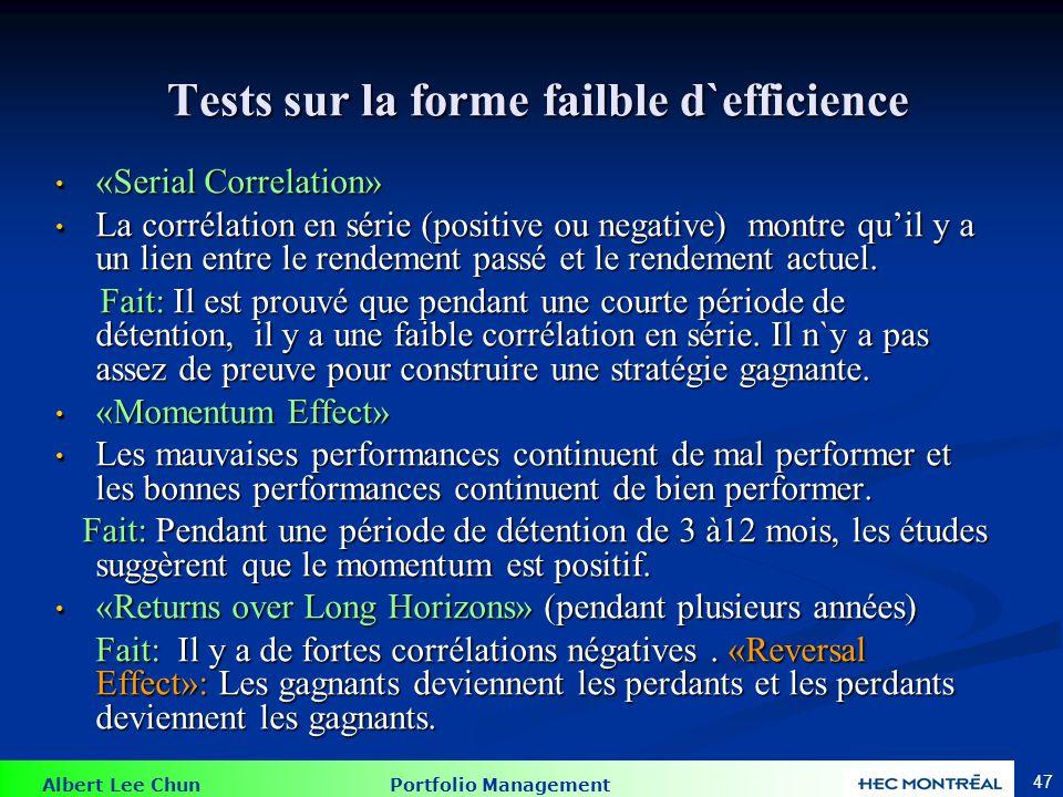 Tests sur la forme semi-forte d`efficience