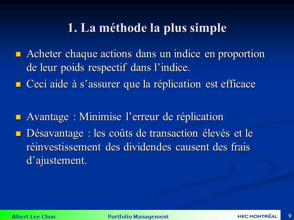 2. La méthode de la capitalisation du marché