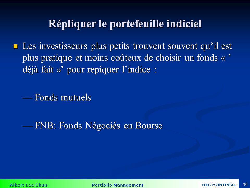 Les fonds transigés sur les marchés boursiers (FTB)