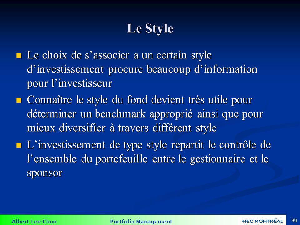 Tableau d'analyse de style