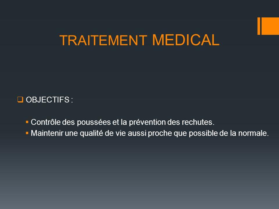TRAITEMENT MEDICAL OBJECTIFS :