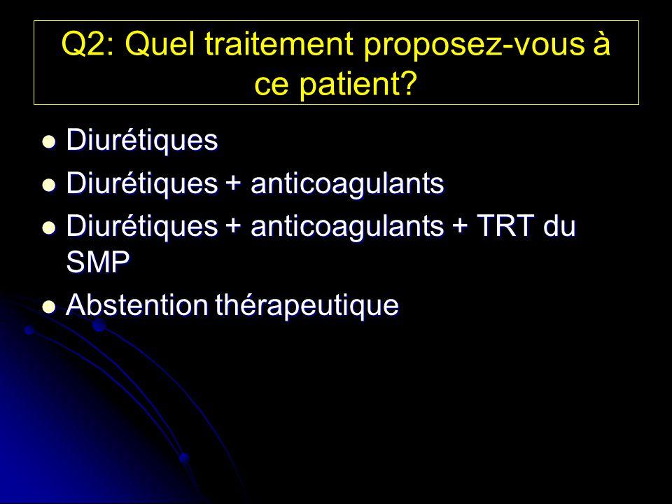 Q2: Quel traitement proposez-vous à ce patient