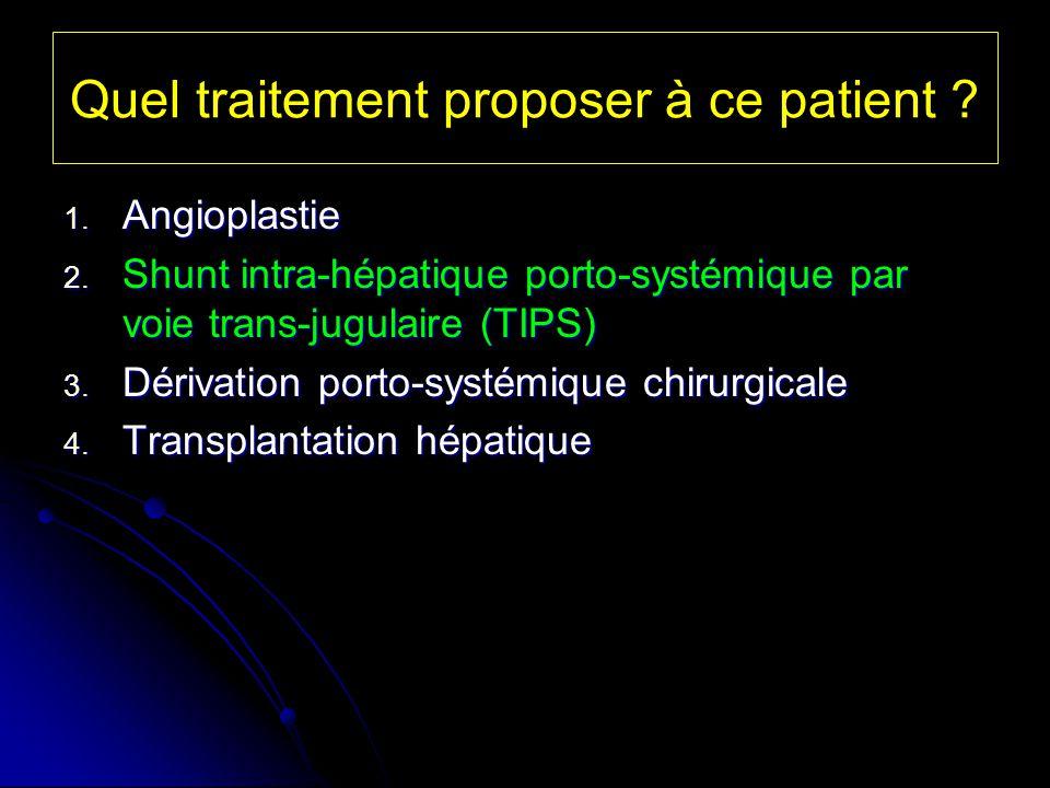 Quel traitement proposer à ce patient