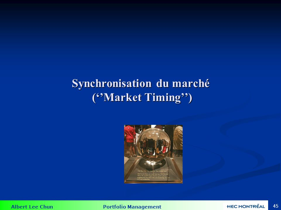 Market Timing parfait