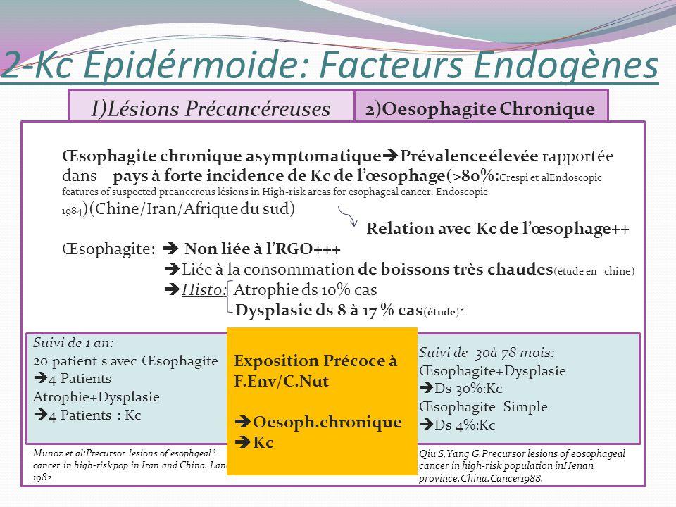 2-Kc Epidérmoide: Facteurs Endogènes