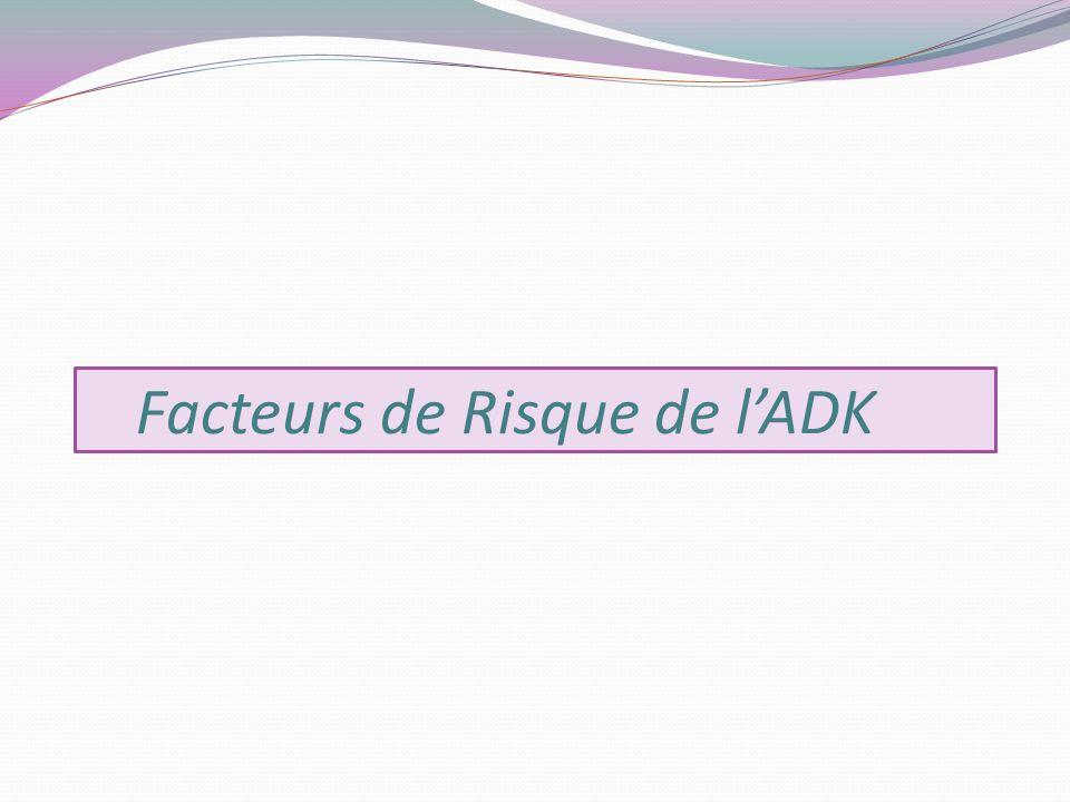 Facteurs de Risque de l'ADK