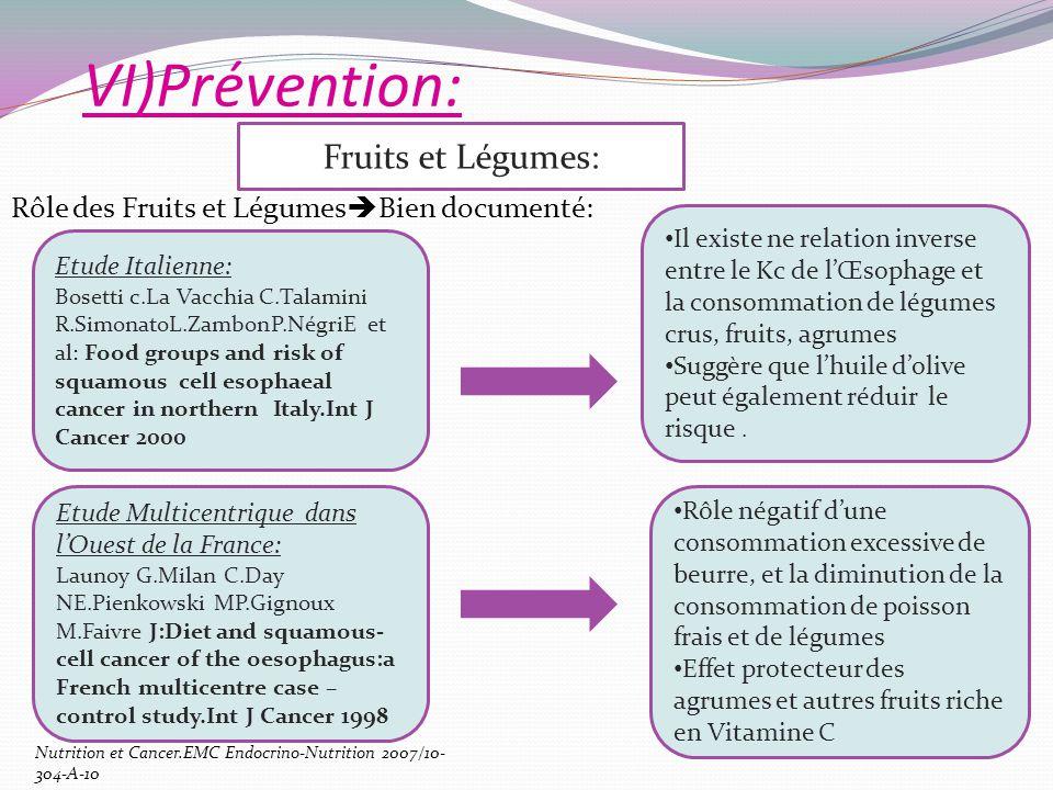 VI)Prévention: Fruits et Légumes: