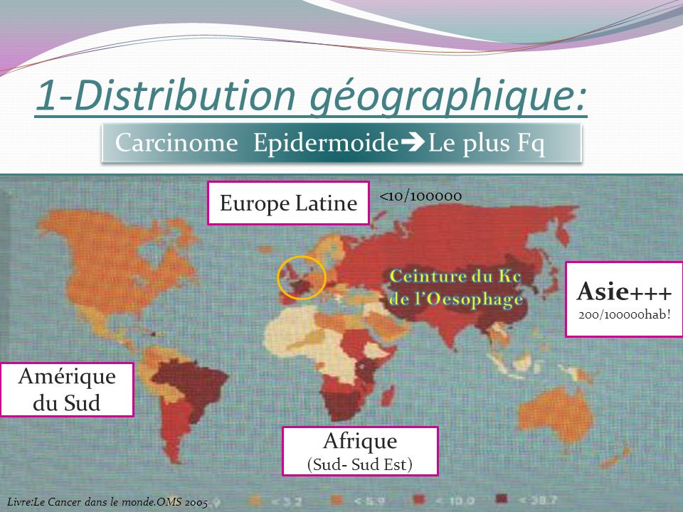 1-Distribution géographique: