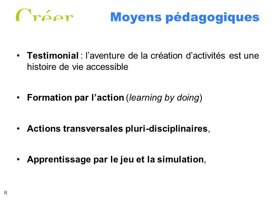 Moyens pédagogiques Testimonial : l'aventure de la création d'activités est une histoire de vie accessible.