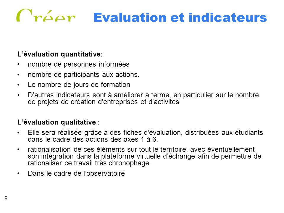 Evaluation et indicateurs