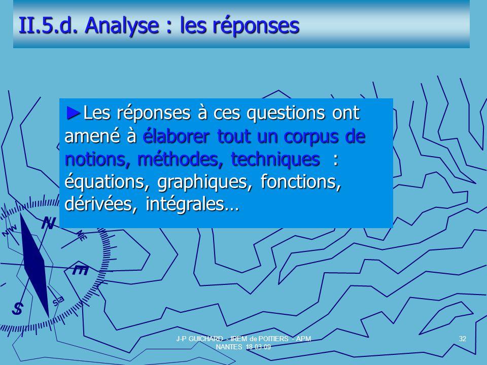 II.5.d. Analyse : les réponses