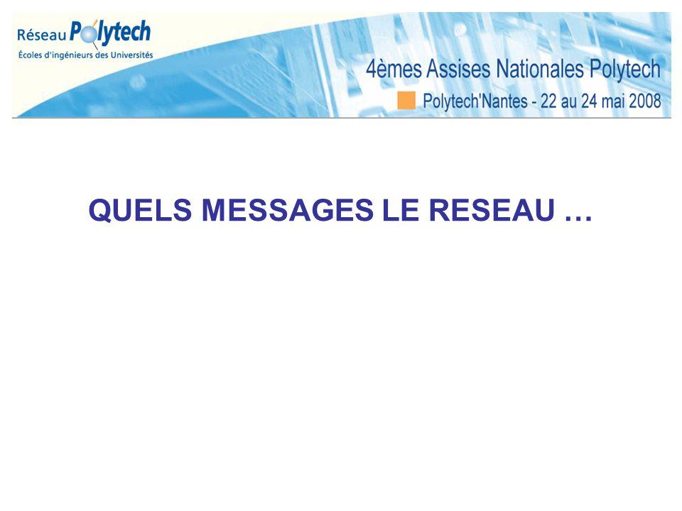 QUELS MESSAGES LE RESEAU …