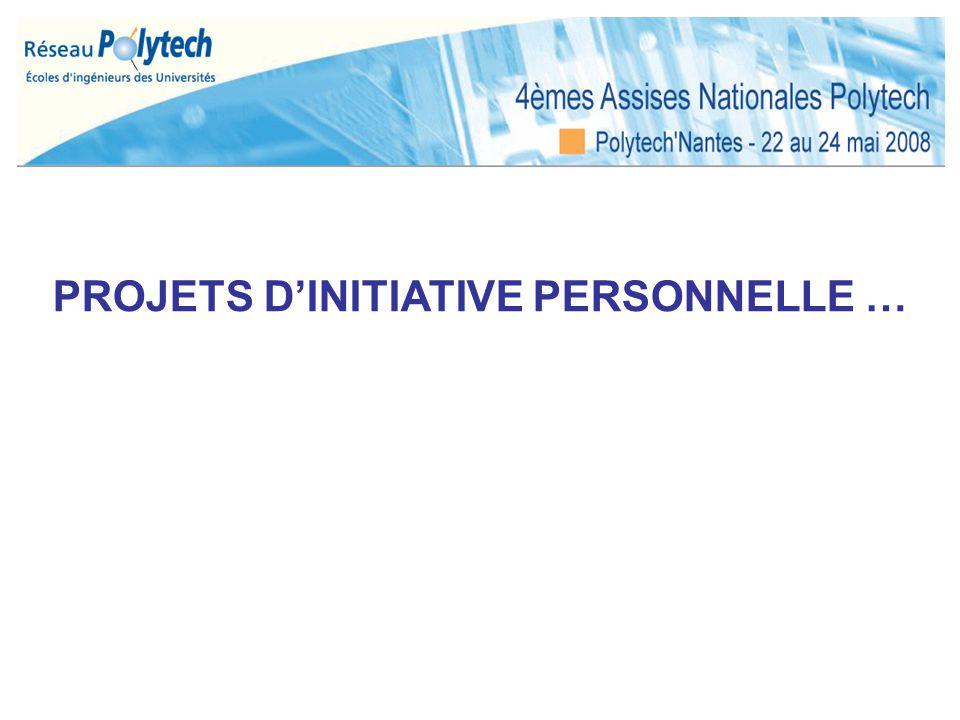 PROJETS D'INITIATIVE PERSONNELLE …