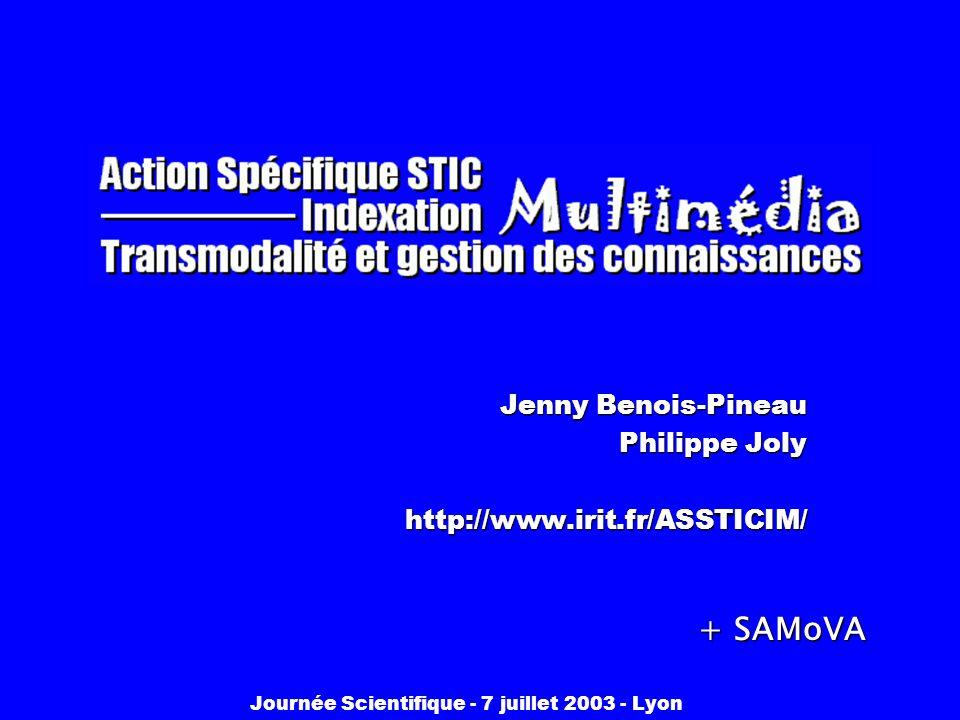 Jenny Benois-Pineau Philippe Joly http://www.irit.fr/ASSTICIM/
