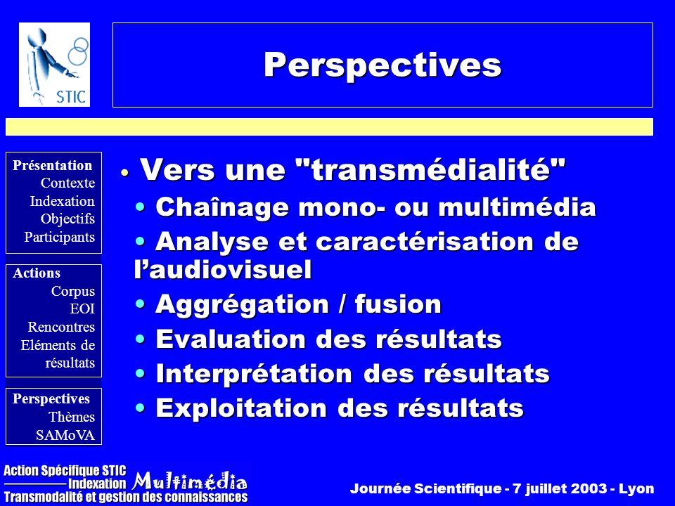 Perspectives Vers une transmédialité Chaînage mono- ou multimédia