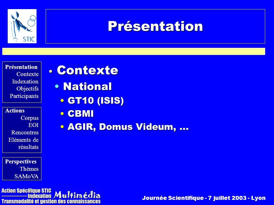 Présentation Contexte National GT10 (ISIS) CBMI