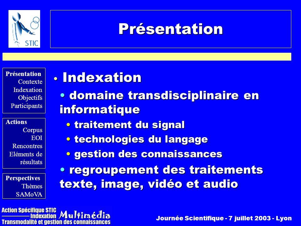 Présentation Indexation domaine transdisciplinaire en informatique