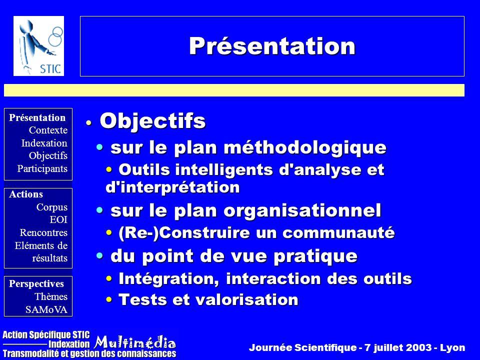 Présentation Objectifs sur le plan méthodologique