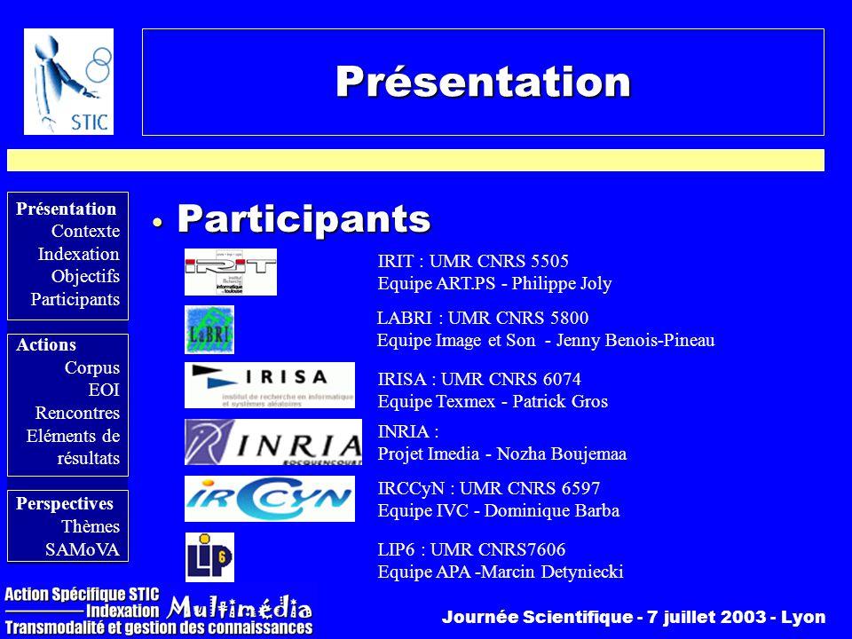 Présentation Participants IRIT : UMR CNRS 5505