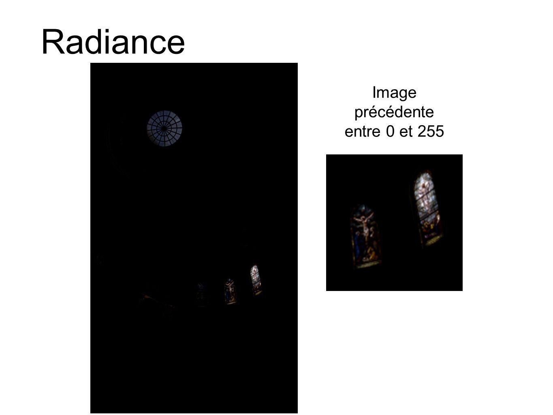 Radiance Image précédente entre 0 et 255