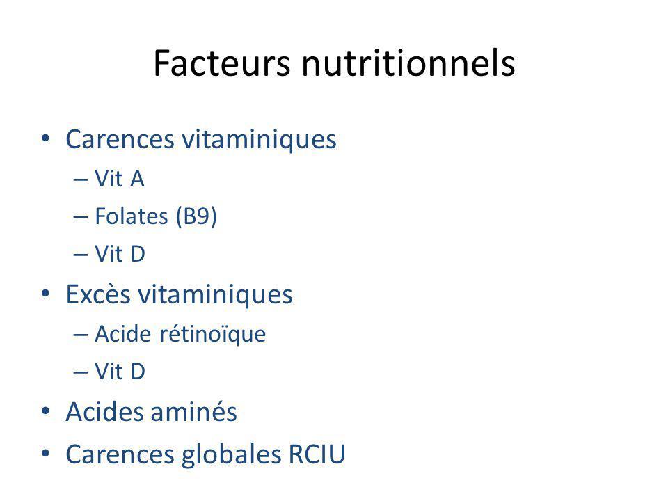 Facteurs nutritionnels