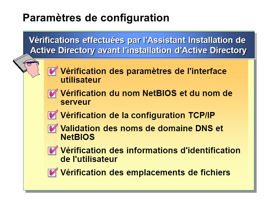 Paramètres de configuration