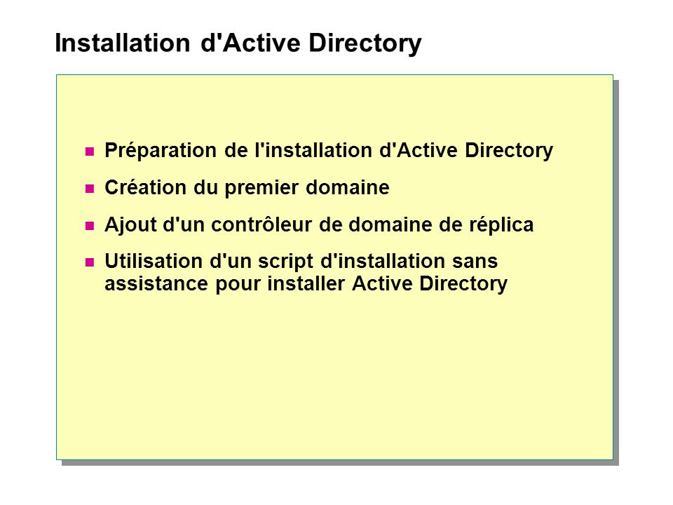 Installation d Active Directory