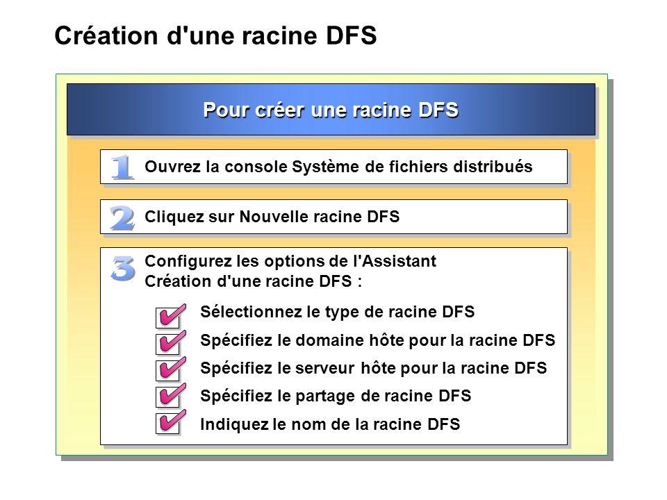 Création d une racine DFS