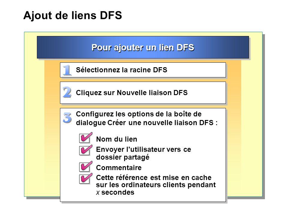 Pour ajouter un lien DFS