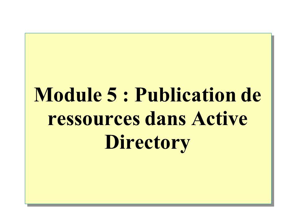 Module 5 : Publication de ressources dans Active Directory