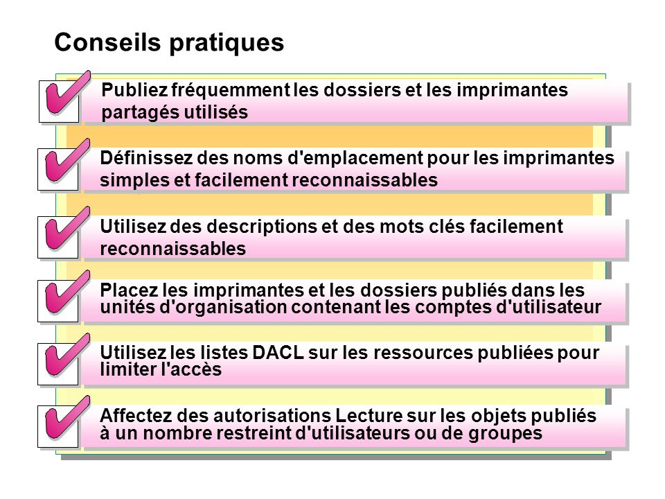 Conseils pratiques Use DACLs on Published Resources to Limit Access