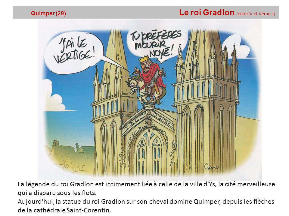 Quimper (29) Le roi Gradlon (entre lV et Vème s)