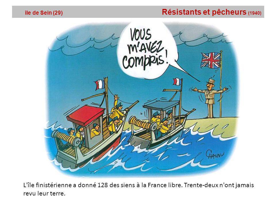 île de Sein (29) Résistants et pêcheurs (1940)