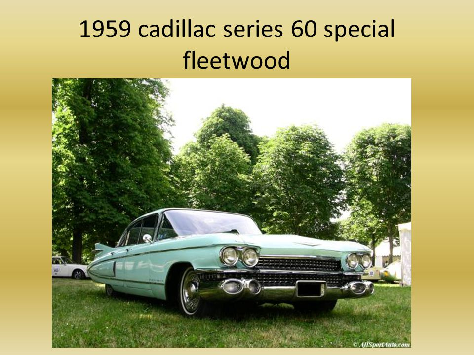 1959 cadillac series 60 special fleetwood