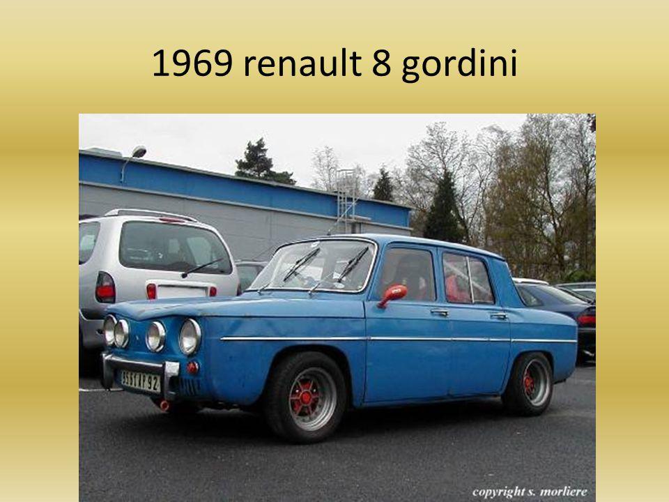 1969 renault 8 gordini