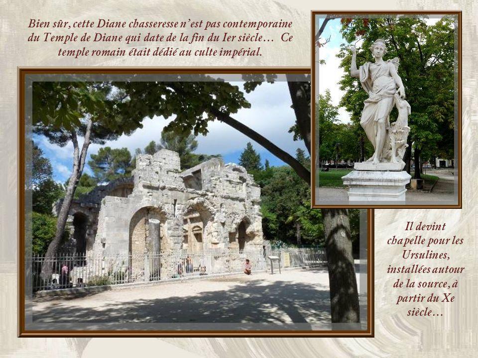 Bien sûr, cette Diane chasseresse n'est pas contemporaine du Temple de Diane qui date de la fin du Ier siècle… Ce temple romain était dédié au culte impérial.