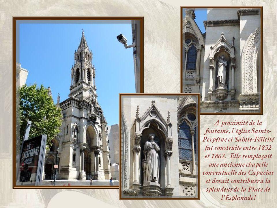 A proximité de la fontaine, l'église Sainte-Perpétue et Sainte-Félicité fut construite entre 1852 et 1862.