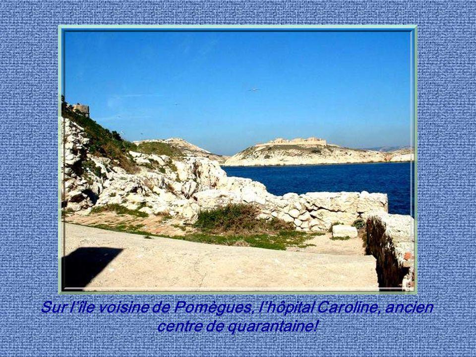 Sur l'île voisine de Pomègues, l'hôpital Caroline, ancien centre de quarantaine!